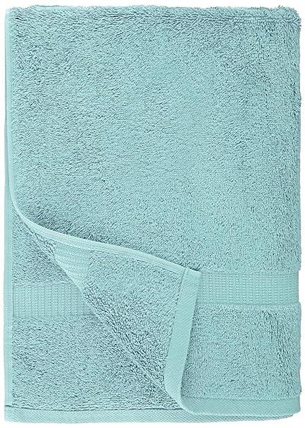 Pinzon - Toallas de baño de mezcla de algodón orgánico, juego de 4, Azul spa: Amazon.es: Hogar
