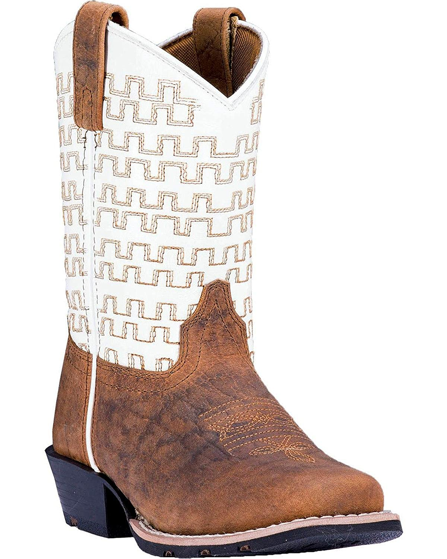 Dan Post Boys Copper Sammie Leather Cowboy Boot Square Toe