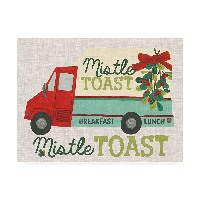 Trademark Fine Art Food Truck Holidays III by June Erica Vess, 14x19