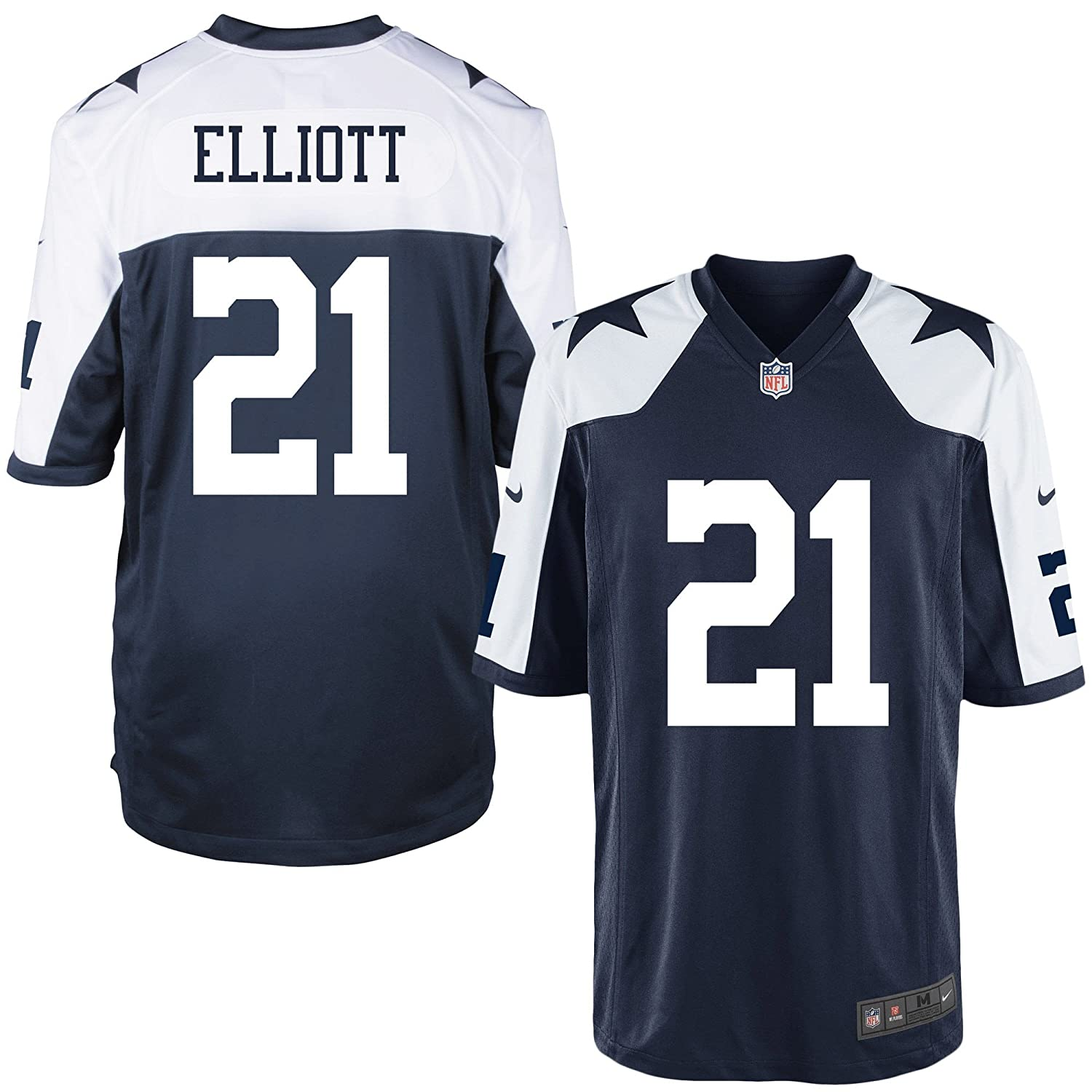 official photos dfcc0 10df7 Dallas Cowboys Ezekiel Elliott Nike Game Replica Throwback Jersey