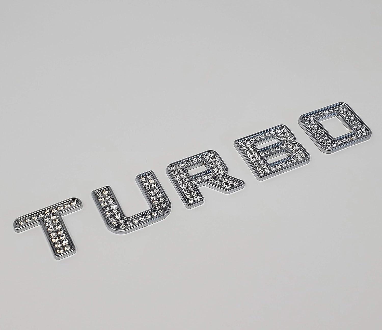 Iced out Turbo Crystal Diamond Chrome Bling Emblem Badge Kit