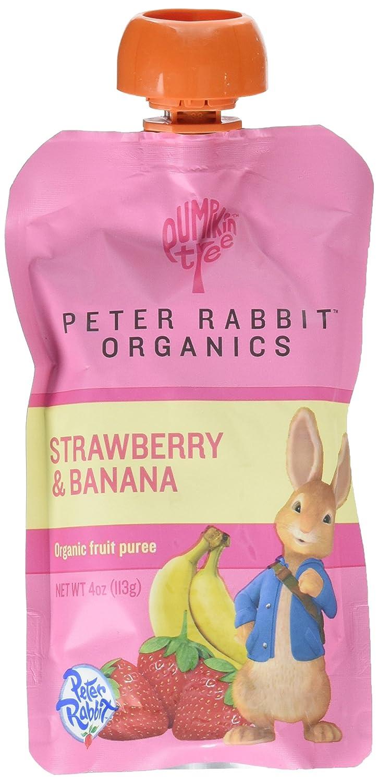 Peter Rabbit Organics Strawberry and Banana Snacks, 4 Ounce (Pack of 10)