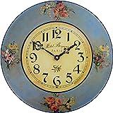 Roger Lascelles Pretty Hotel Floral Clock, 14.2-Inch