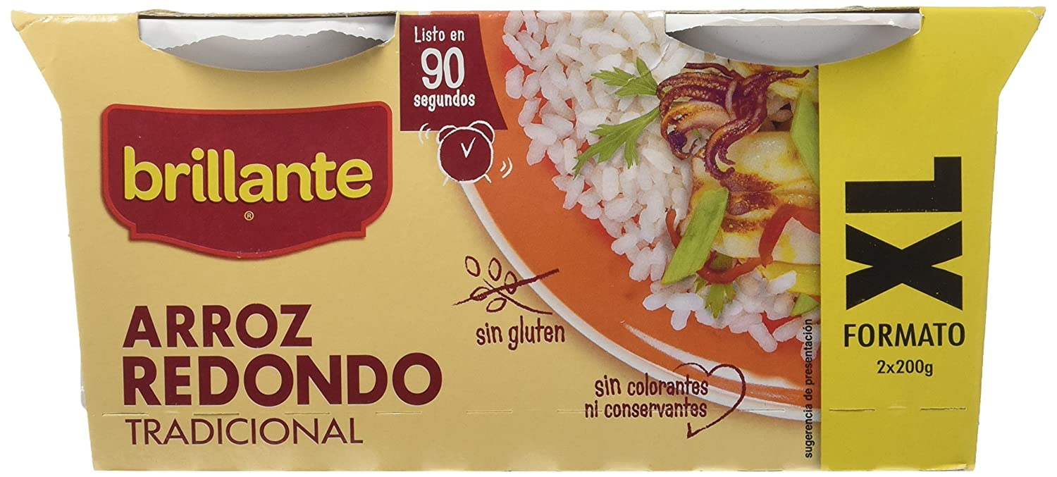 Arroz Redondo Tradicional XL - Pack de 2 x 200 g - Total: 400 g: Amazon.es: Amazon Pantry