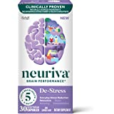 Nootropic Brain Support Supplement - NEURIVA De-Stress Capsules (30 Count in a Bottle), for Everyday Stress Reduction…