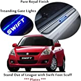 Harsheen Sales Premium Quality Car Door LED Sill Scuff Plate Foot Steps For Maruti New and Old Swift