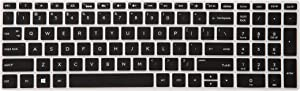 """LEZE - Ultra Thin Keyboard Cover for 15.6"""" HP Pavilion X360 15-BR,Pavilion 15-CC 15-CH 15-CD 15-CB 15-BS 17-BS 17M-AE serie Touch-Screen Laptop - Black"""