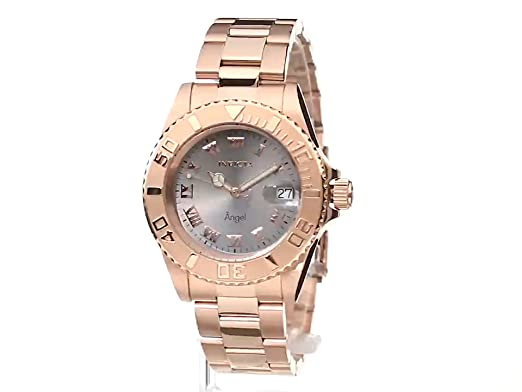 Amazon.com: Invicta Womens 14368 Angel Analog Display Swiss Quartz Rose Gold Watch: Invicta: Watches