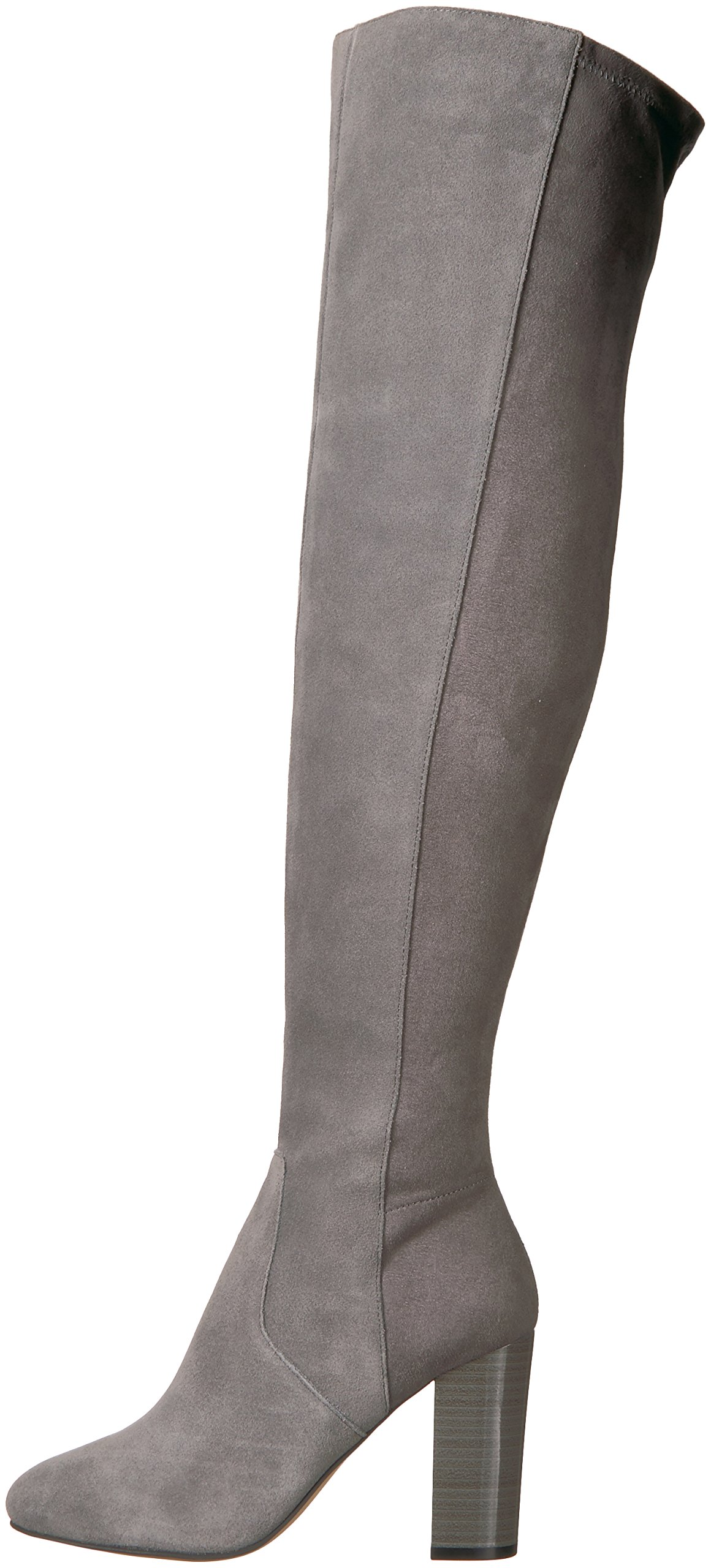 The Fix Women's Lyndsey Over-The-Knee Block-Heel Boot, Elephant Grey, 6.5 M US by The Fix (Image #5)