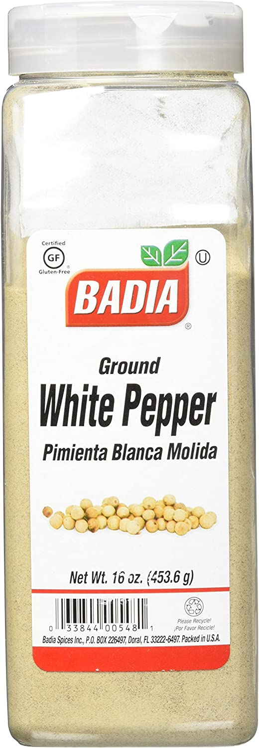 Badia Spices inc Spice, White Pepper Ground, 16-Ounce