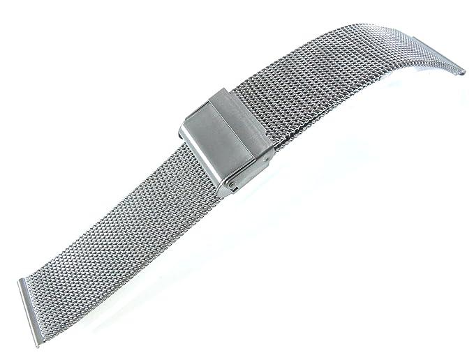 20 mm acero inoxidable reloj pulsera malla de alambre de 0,5 ...