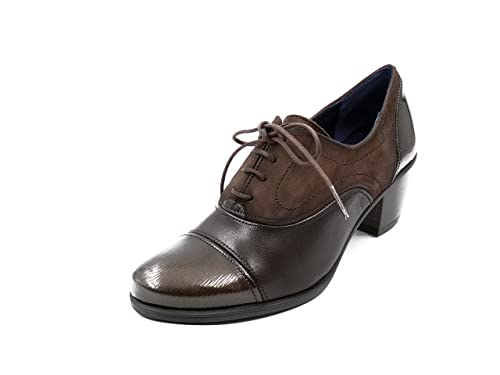 Fluchos Zapato Abotinado Cordones dorking Disponible EN Colores Burdeos y Café - 6884-65 y
