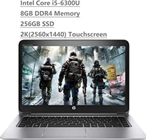 "2020 HP EliteBook 1040 G3 14"" 2K QHD Touchscreen (2560x1440) Business Laptop (Intel Core i5-6300U, 8GB DDR4 Memory, 256GB SSD) HDMI, Bang & Olufsen, WiFi AC, Bluetooth, Type-C, Windows 10 Pro"