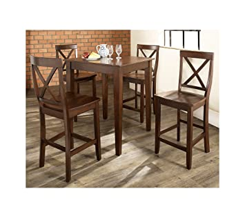 Beau Crosley Furniture 5 Pc. Pub Dining Set With Tapered Leg U0026 X Back
