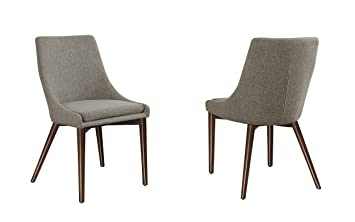 Amazoncom Homelegance 5048S Fabric AccentSide Chair Grey Set