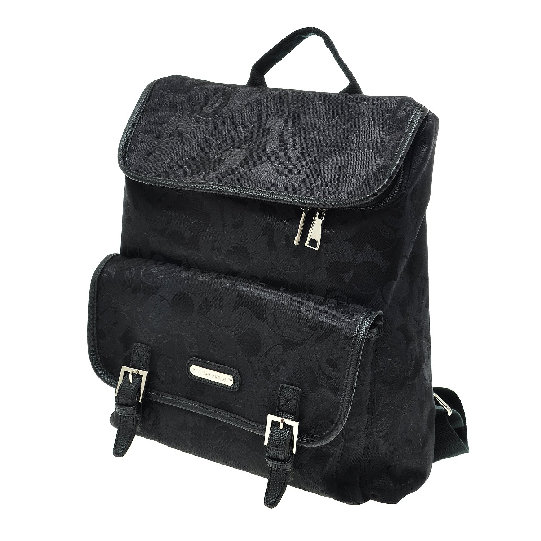 A90.Disney Mickey Mouse Women Backpack Travel School Laptop Diaper Bag (01.Black)