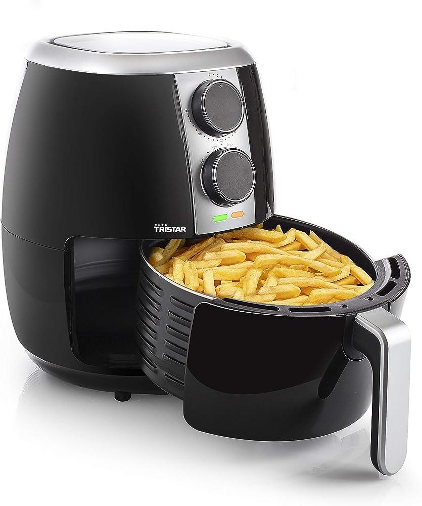 Tristar fr-6989 crispy fryer friggitrice ad aria calda, 1500 w, 3.5 litri, acciaio inossidabile, nero [classe