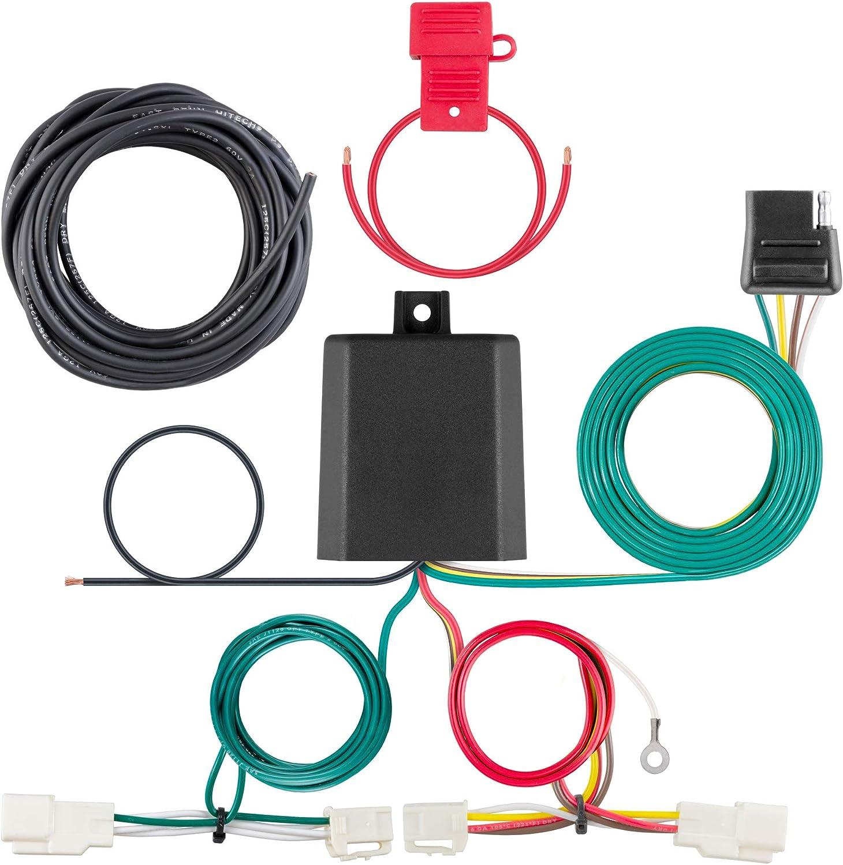 amazon.com: curt 56350 vehicle-side custom 4-pin trailer wiring harness,  select toyota avalon, rav4: automotive  amazon.com