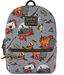 7645e92be Loungefly x Harry Potter Tattoo All Over Print Mini Backpack