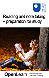 Reading and note taking – preparation for study (English Edition)