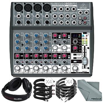 Amazon.com: Behringer Xenyx 1202 FX 12 canales de audio ...