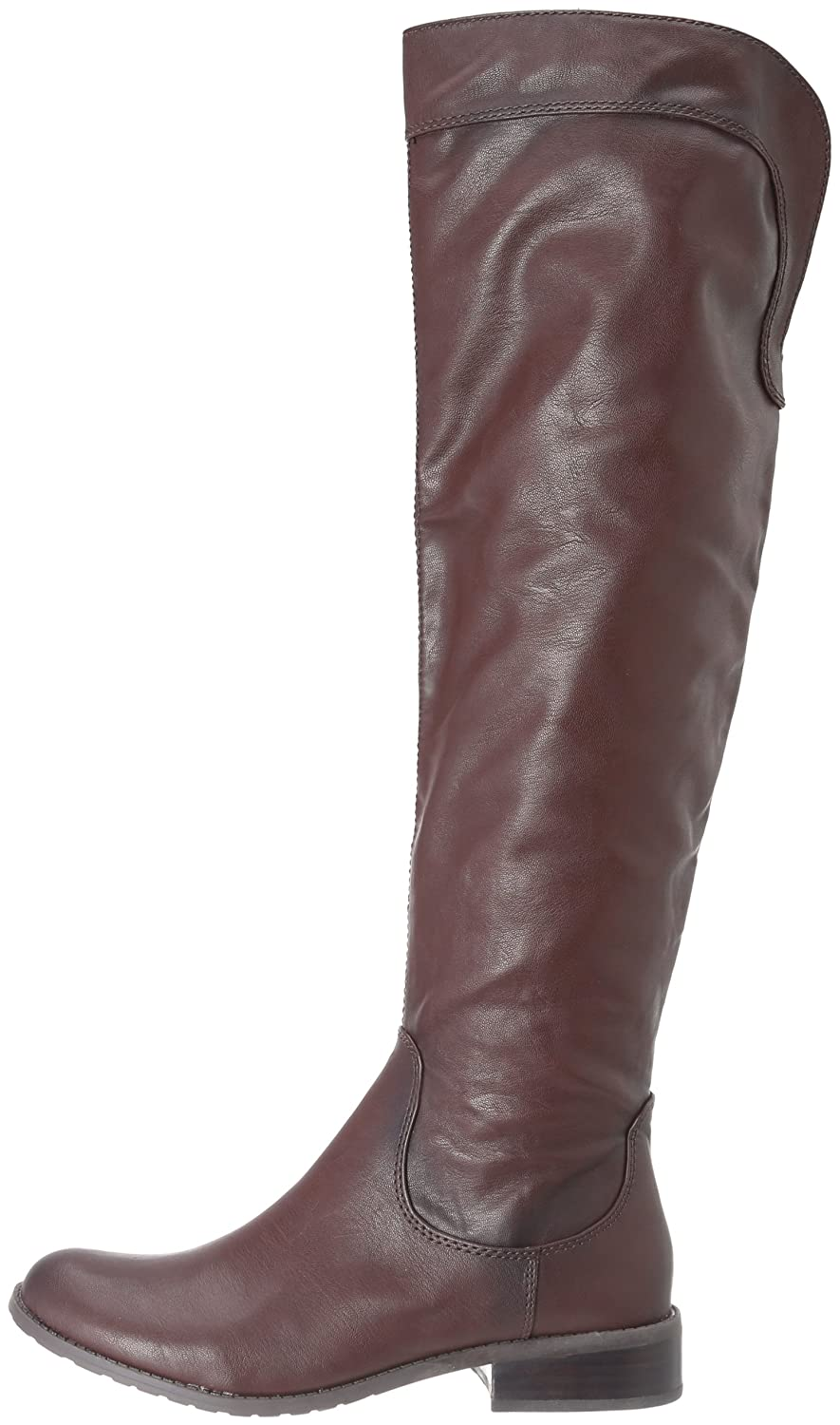 Fergie Womens Metro Knee High Engineer Boot Brown Synthetic Size 8.5