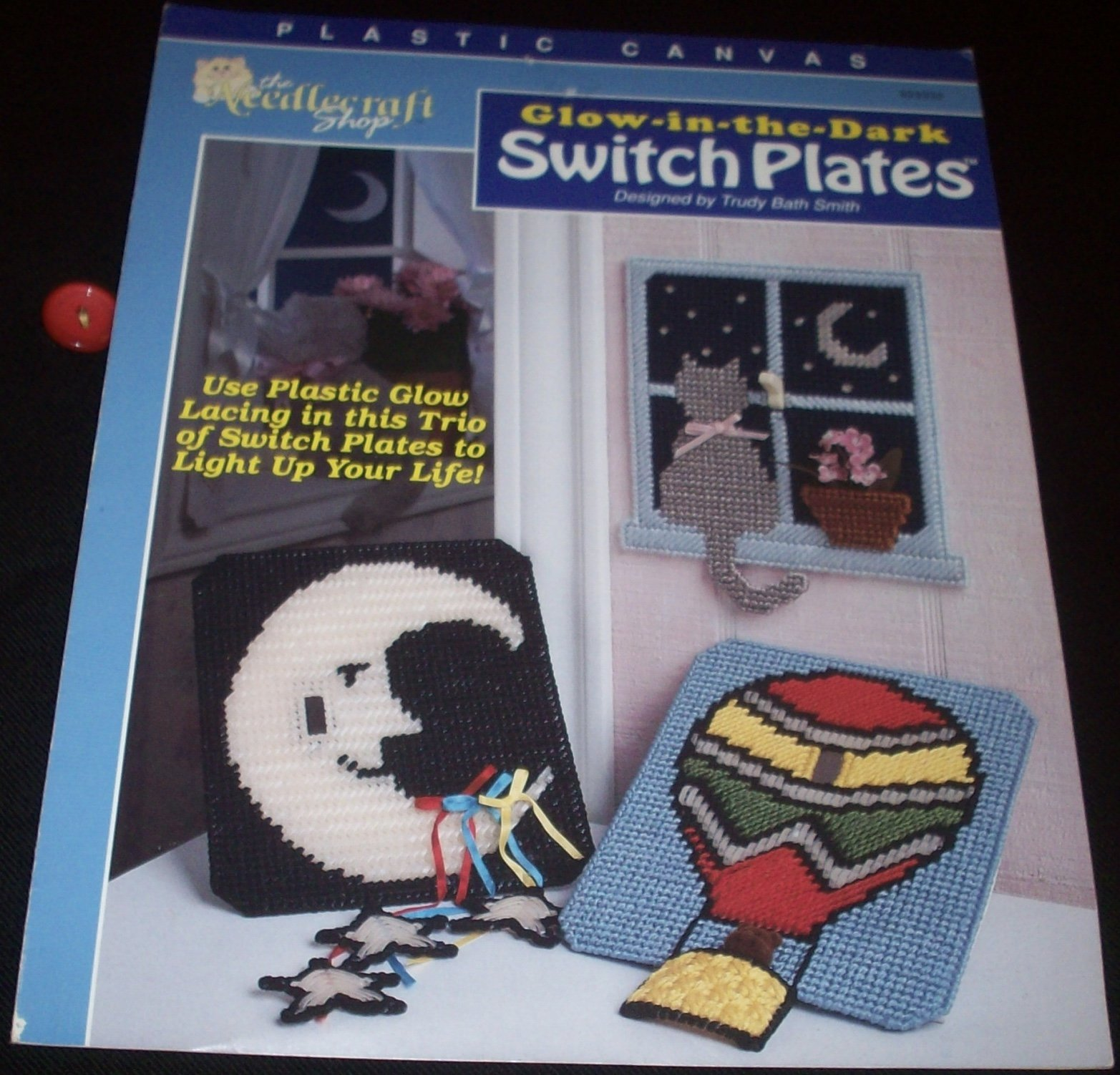 Plastic Canvas Glow In The Dark Switch Plates 923332 Trudy Bath