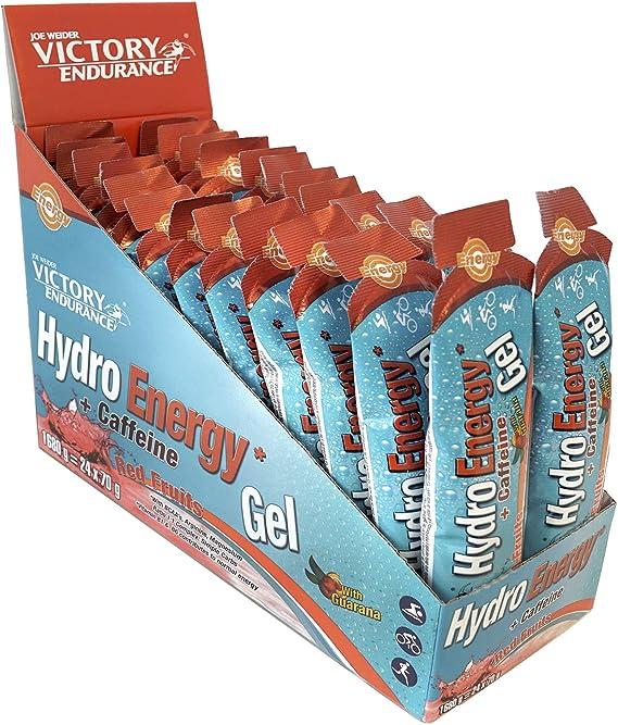 Victory Endurance Hydro Energy Gel Caffeine Red Fruit 70g.Textura más líquida. 42 mg de cafeína por gel.