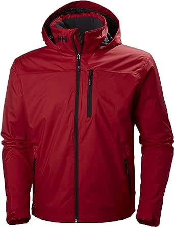 Helly Hansen Men's Crew Midlayer Fleece Lined Waterproof Windproof Breathable Sailing Rain Coat Jacket with Stowable Hood
