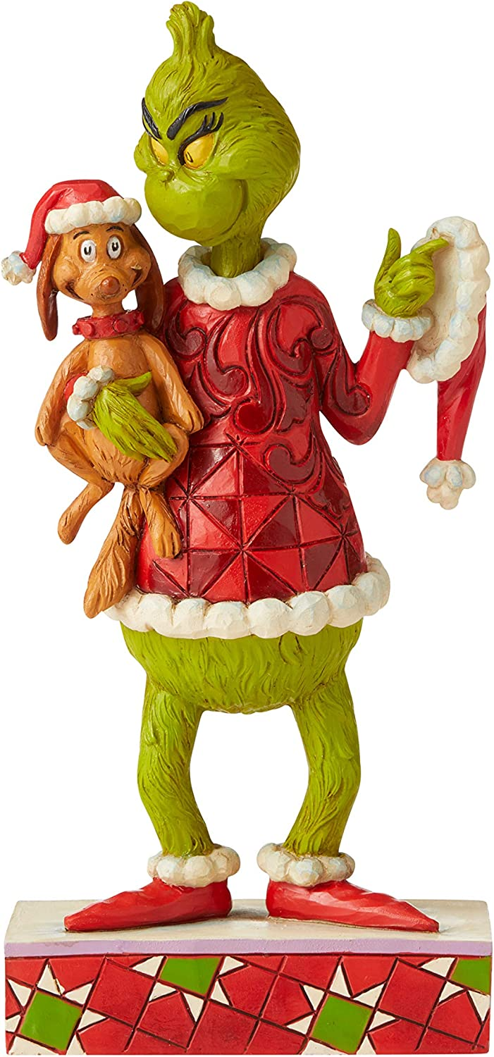 Enesco Grinch by Jim Shore Grinch Holding Max Under Arm Figurine