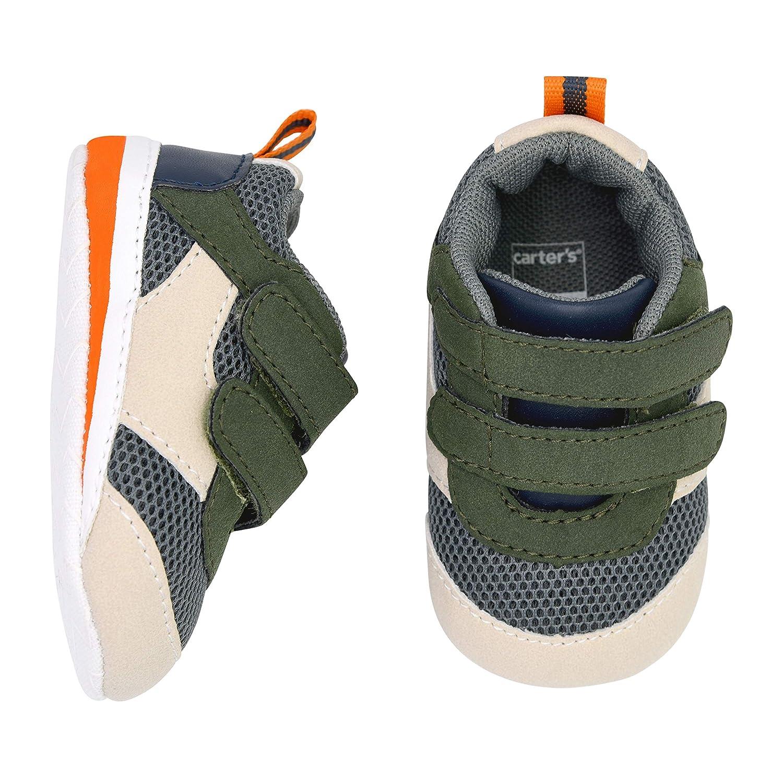 Carters Girls Baby Boy Soft Sole Lowtop Stone Sneaker