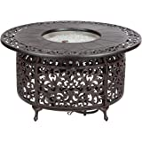 Paramount Round Outdoor Propane Firepit Table