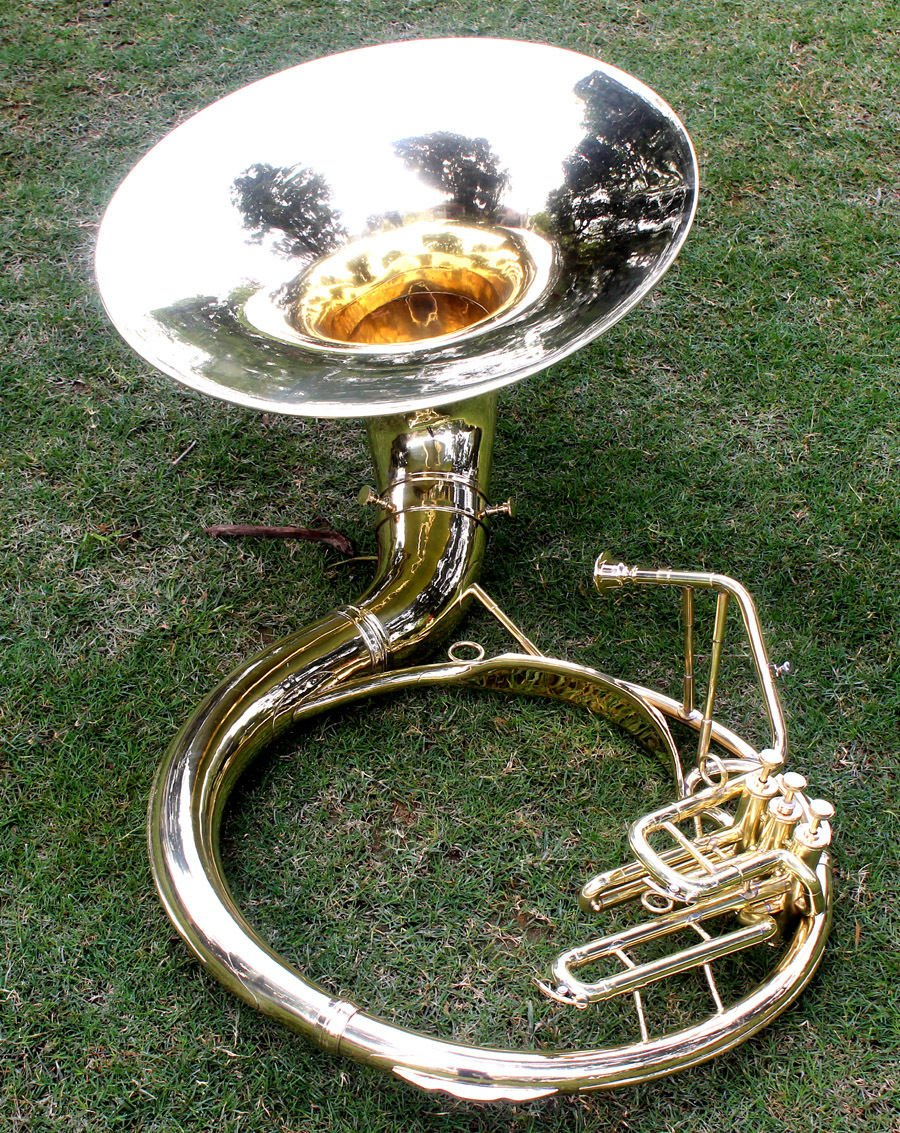 Sousaphone Brass Metal 20'' Bb SAI MUSICAL 3 VALVE WITH BAG MOUTH PIECE SHIP FAST by SAI MUSICAL (Image #1)