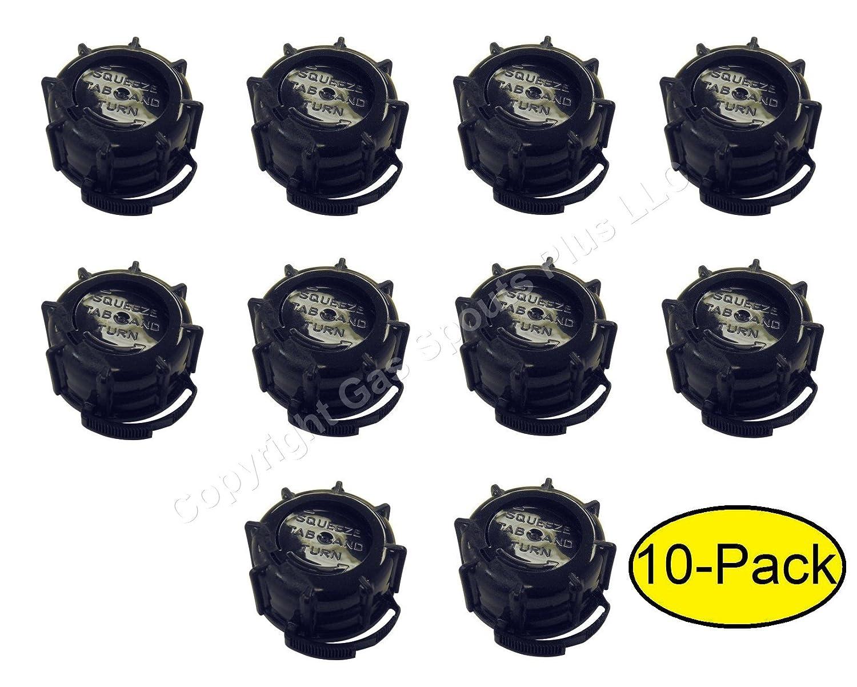 Midwest - Juego de 10 tapas de rosca para latas de gas (anillo de ...