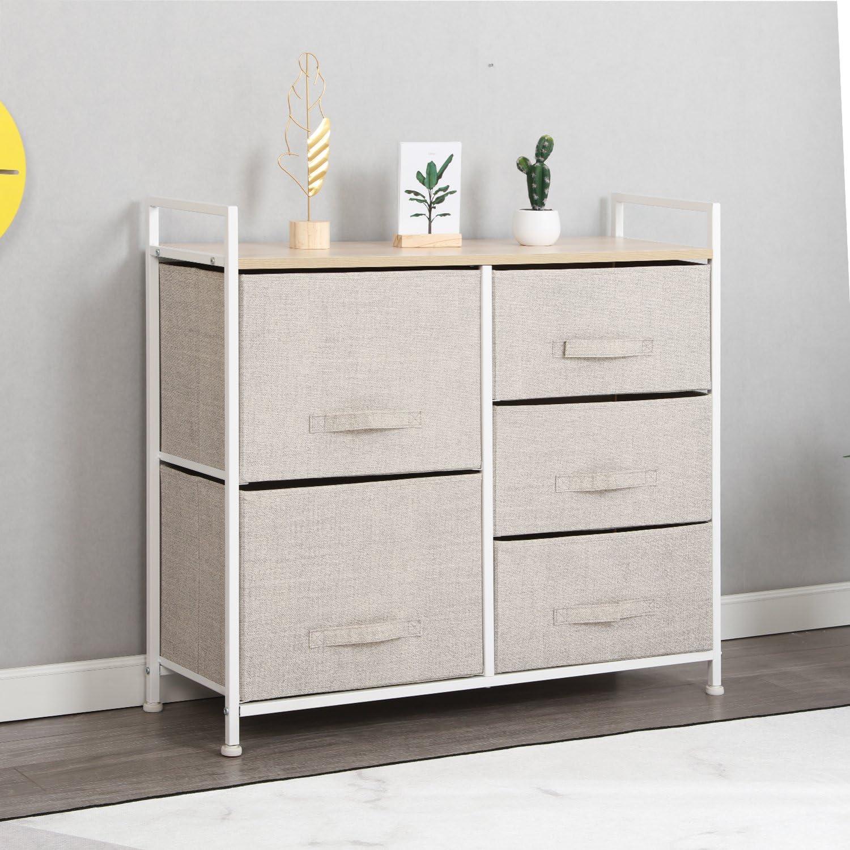 sogesfurniture Storage Organizer Unit, 11-Drawer Clothing Organizer Unit for  Closet, Bedroom, Beige BHCA-11-BM