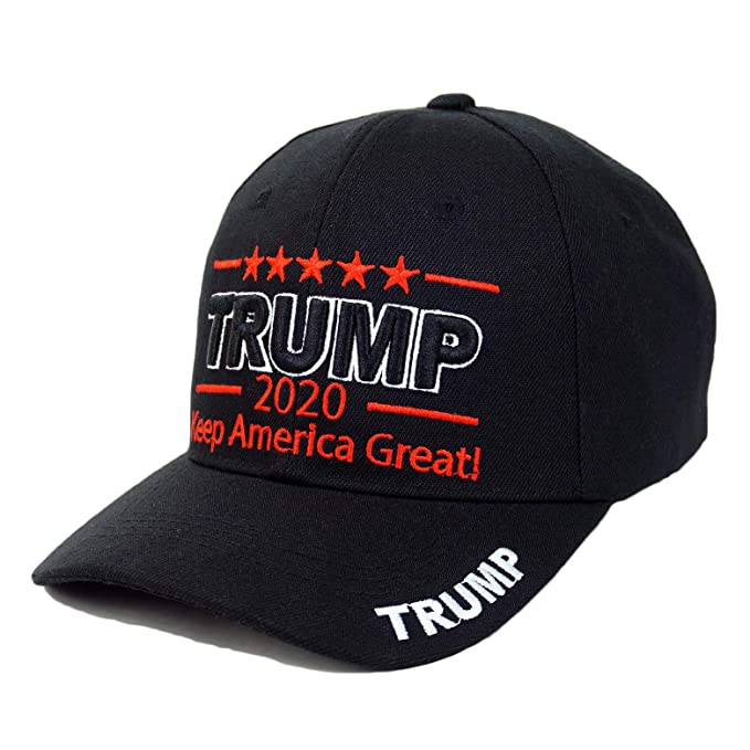 35a50839cc7 Trump 2020 Keep America Great Embrodiery Campaign Hat USA Baseball Cap (3D-  Black)