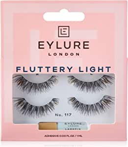 Eylure fluttery light lashes, no. 117, twin pack