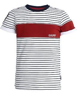 GULLIVER T-Shirt Kinder T Shirt M/ädchen Bluse Weiss mit Spitze Kurzarm 8-13 Jahre 134-164 cm