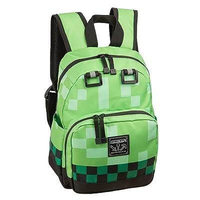 """JINX Minecraft Creeper Kids Mini Backpack, Green, 12"""": Clothing"""