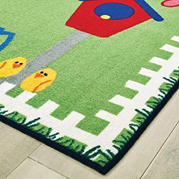 Carpets For Kids Garden Time Spring Themed Kid Value Rug 4 X 6 Area Rugs Garden Outdoor