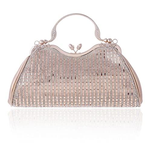 Amazon.com: Damara brillante Strass fiesta asa superior ...