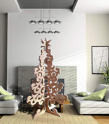 Buy Samhars Plain Mdf Wooden Christmas Tree Large 6 X 3 Ft 12