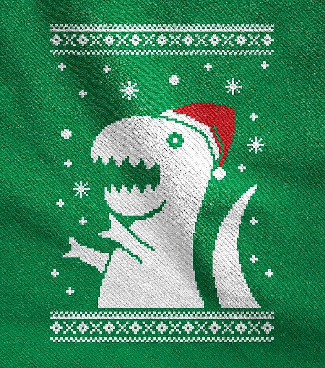 Funny Xmas Women Sweatshirt Big Trex Santa Ugly Christmas Sweater