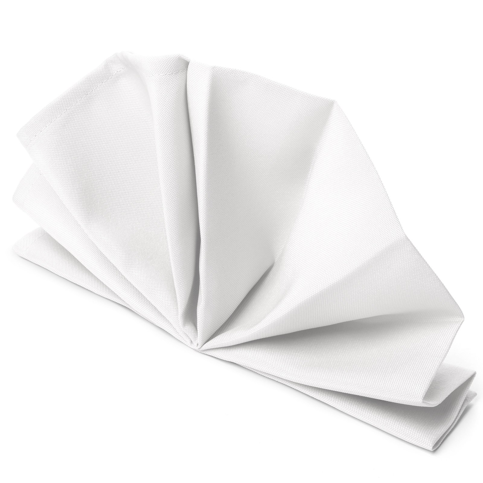 Mill & Thread - 1 Dozen 20'' Oversized Cloth Dinner Table Napkins - Machine Washable Restaurant/Wedding/Hotel Quality Polyester Fabric - White