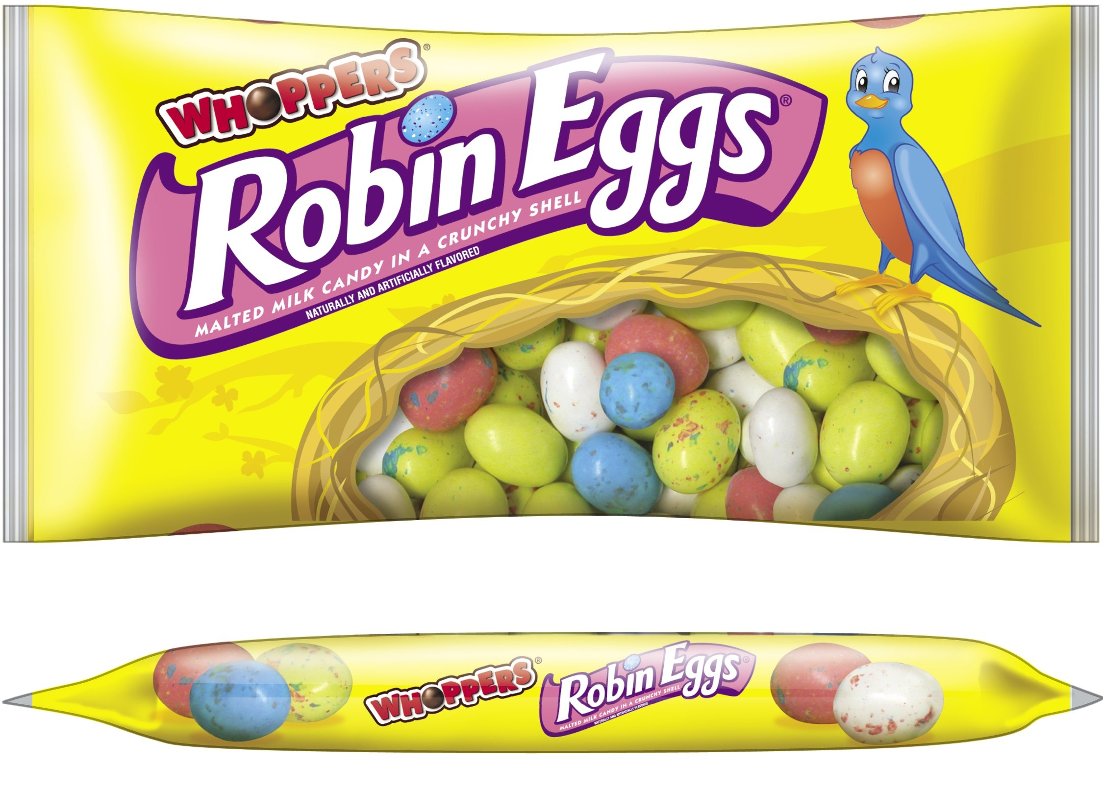 CDM product WHOPPERS ROBIN EGGS Candy (Malted Milk Candy in a Crunchy Shell), 10 Ounce Bag (Pack of 8) big image