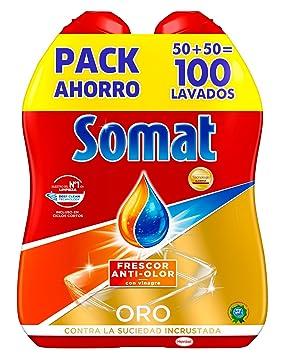 Somat Oro Gel Lavavajillas Vinagre - 100 Lavados (1.8 l): Amazon ...