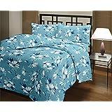 Gemshop Cotton Reversible Single Dohar 82x54 (Blue Floral Reversible)