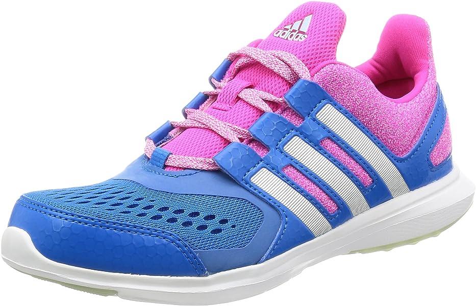 adidas Hyperfast 2.0 K, Zapatillas de Deporte Interior para Niños, Blanco (Ftwbla /