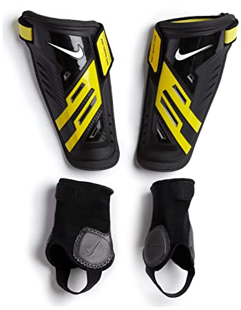 Nike Protegga Shield Football Shin Guards, black and yellow