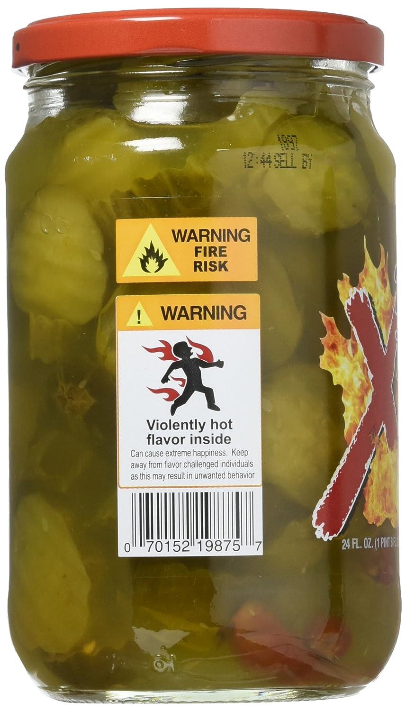 Best Maid Xtreme Hot Pickle Bitez 24oz Jar (Pack of 2)